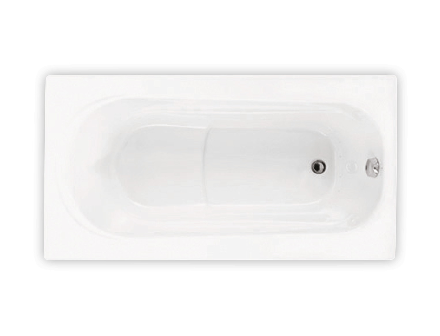Bainultra Amma® 6032 alcove drop-in air jet bathtub for your modern bathroom