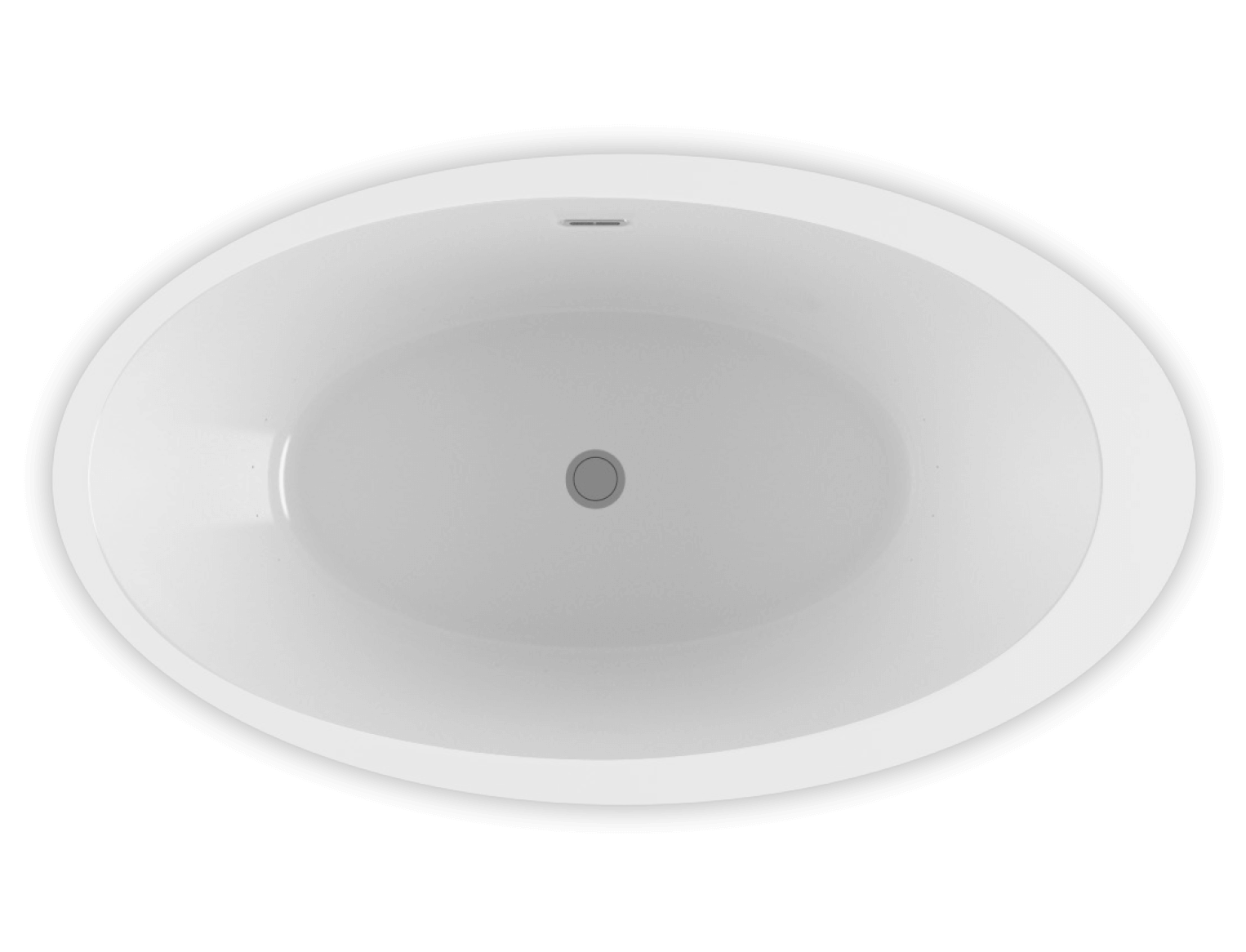 Opalia 6839 Off Centered Ellipse Left air jet bathtub for your modern bathroom