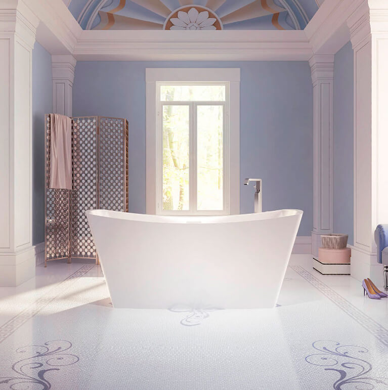 Bainultra Evanescence® collection freestanding alcove air jet bathtub for your master bathroom