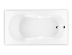 Bainultra Azur collection alcove drop-in air jet bathtub for your modern bathroom